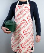 Kitchen Apron with Tunnock's Caramel Wafer Repeat illustration by Gillian Kyle