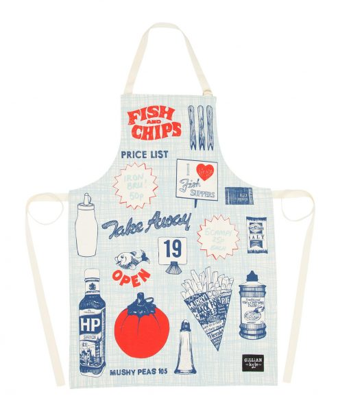 Kitchen Apron From Fish and Chips Range by Gillian Kyle