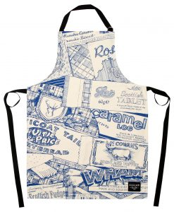 Kitchen Apron with Sweet Tooth design by Gillian Kyle on Model