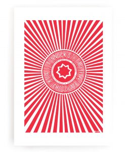 Tunnocks Tea Cake Wrapper Wall Art Print