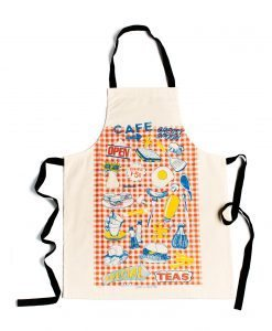 Kitchen Apron with Greasy Spoon Cafe Design by Gillian Kyle