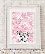Wall Art Print with West Highland Terrier by Gillian Kyle