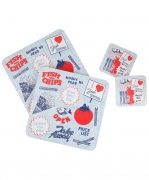 Drinks Coasters with Fish and Chips design by Gillian Kyle