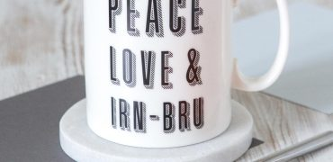 Peace Love and Irn Bru Fine Bone China Mug