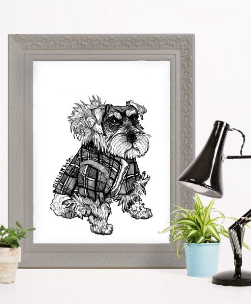 Wall Art Print Featuring Hamish by Gillian Kyle