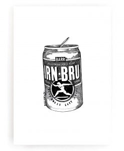 Irn Bru Wall Art Print by Gillian Kyle
