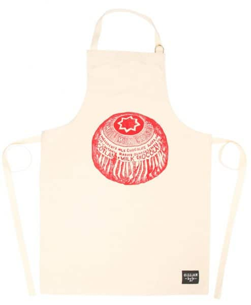 Kitchen Tea Towel with Tunnock's Tea cake design by Gillian Kyle