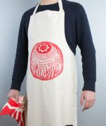 Kitchen Apron with Tunnock's Teacake design by Gillian Kyle