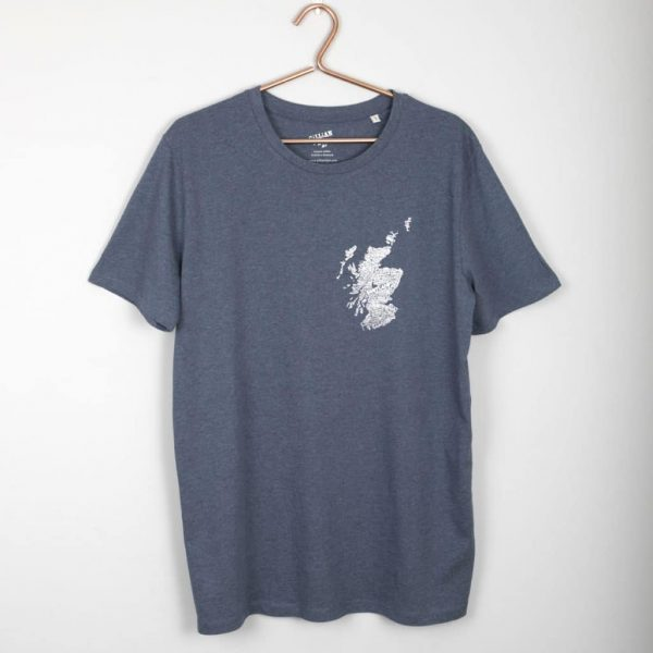 Mapped Out Scottish Map t-shirt by Gillian Kyle