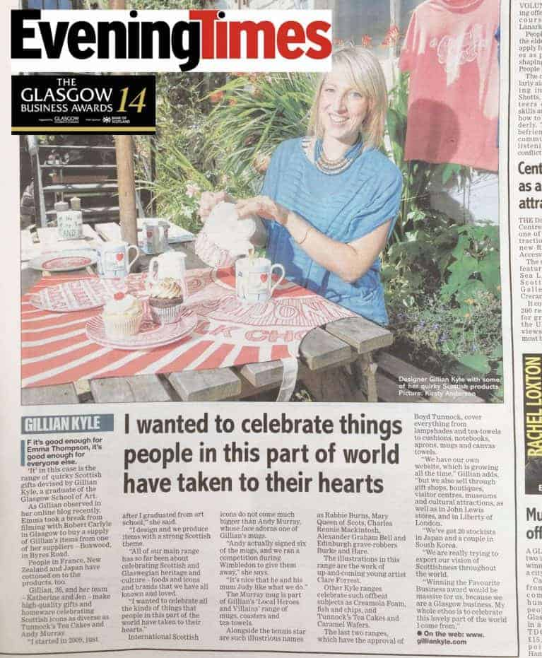 Evening Times featuring Gillian Kyle