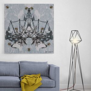 Monarch Stag and Thistle canvas