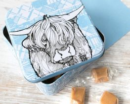Highland Cow inspired gifts by Gillian Kyle