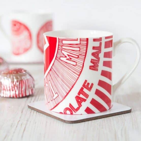 Fine Bone China Mug with Tunnock's Tea Cake Design By Gillian Kyle