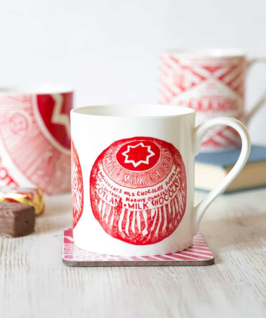 Coffee Mug with Tunnock's Tea Cake by Gillian Kyle