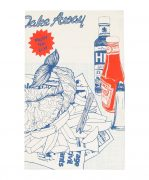 Kitchen Tea Towel from the Fish and Chips Range by Gillian Kyle