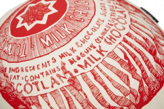 Chair Cushion with Tunnock's Tea Cake from Gillian Kyle