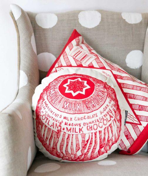 Chair Cushions with Tunnock's Tea Cake from Gillian Kyle