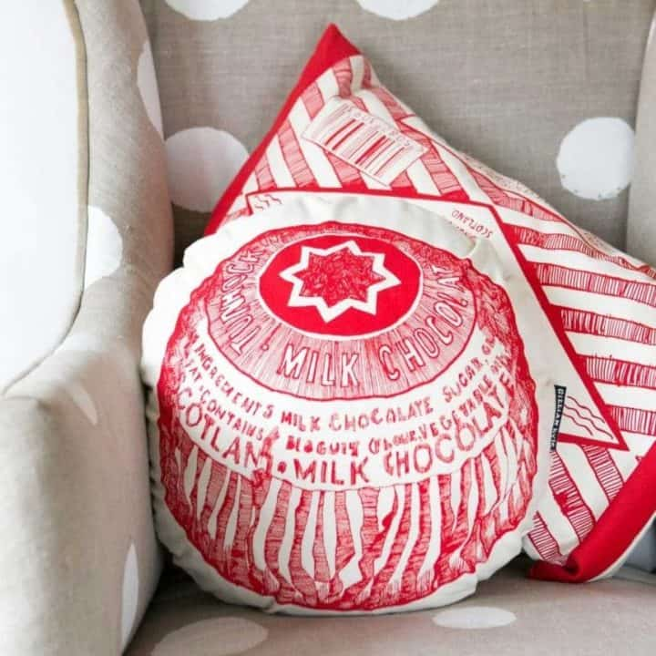 Chair Cushions with Tunnock's Tea Cake from Gillian Kyle