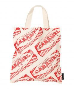 Canvas Tote Bag with Tunnock's Caramel Wafer Design by Gillian Kyle