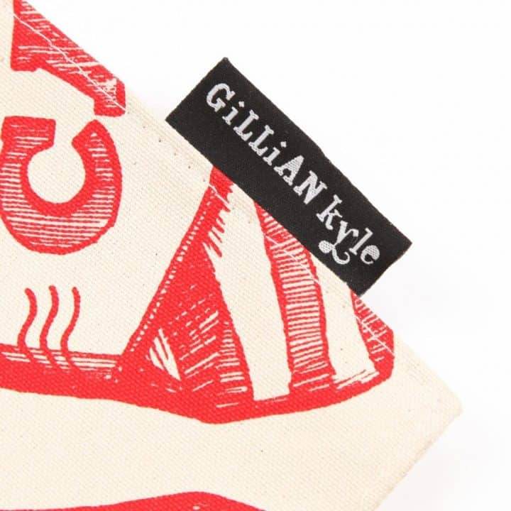 Canvas Tote Bag with Gillian Kyle Branding
