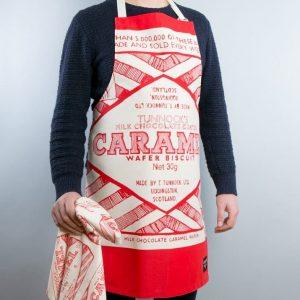 Gillian Kyle, Scottish breakfast textiles, Scottish apron, Scottish Tunnock's teacake print