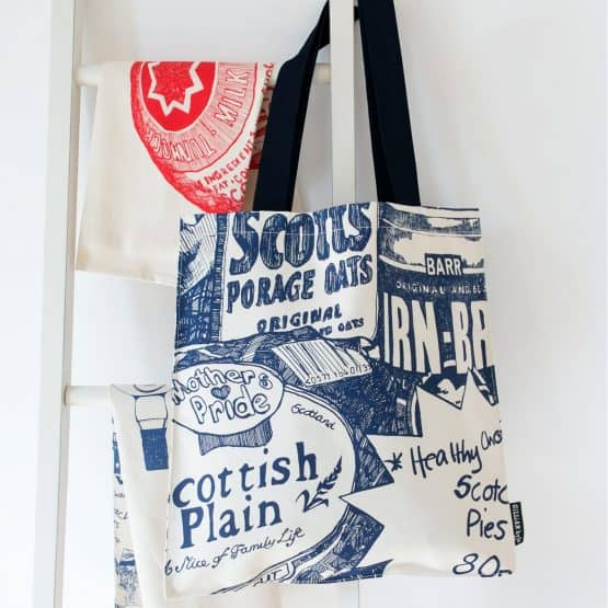 Scottish Breakfast tote bag canvas shopper by Gillian Kyle