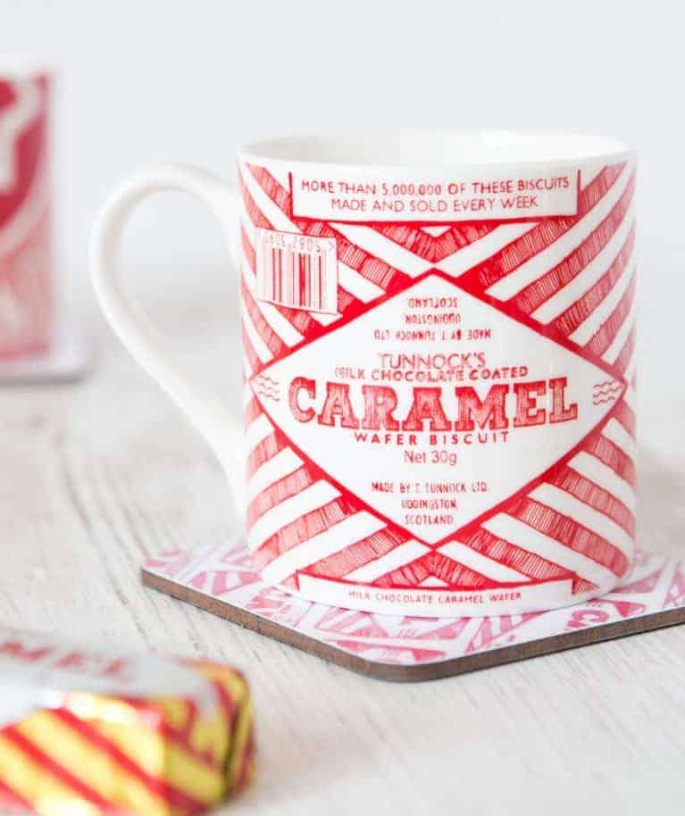 Fine Bone China Mug with Tunnock's Caramel Wafer Design