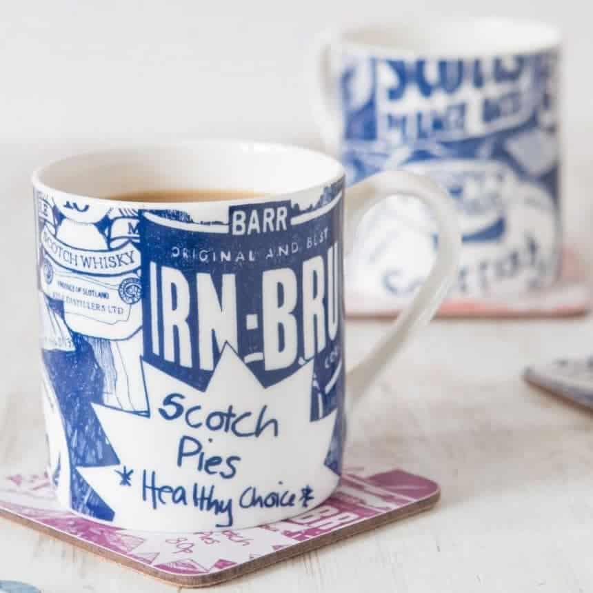 Fine Bone China Mug with Scottish Breakfast Design