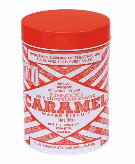 Biscuit Tin with Tunnock's Caramel Wafer design