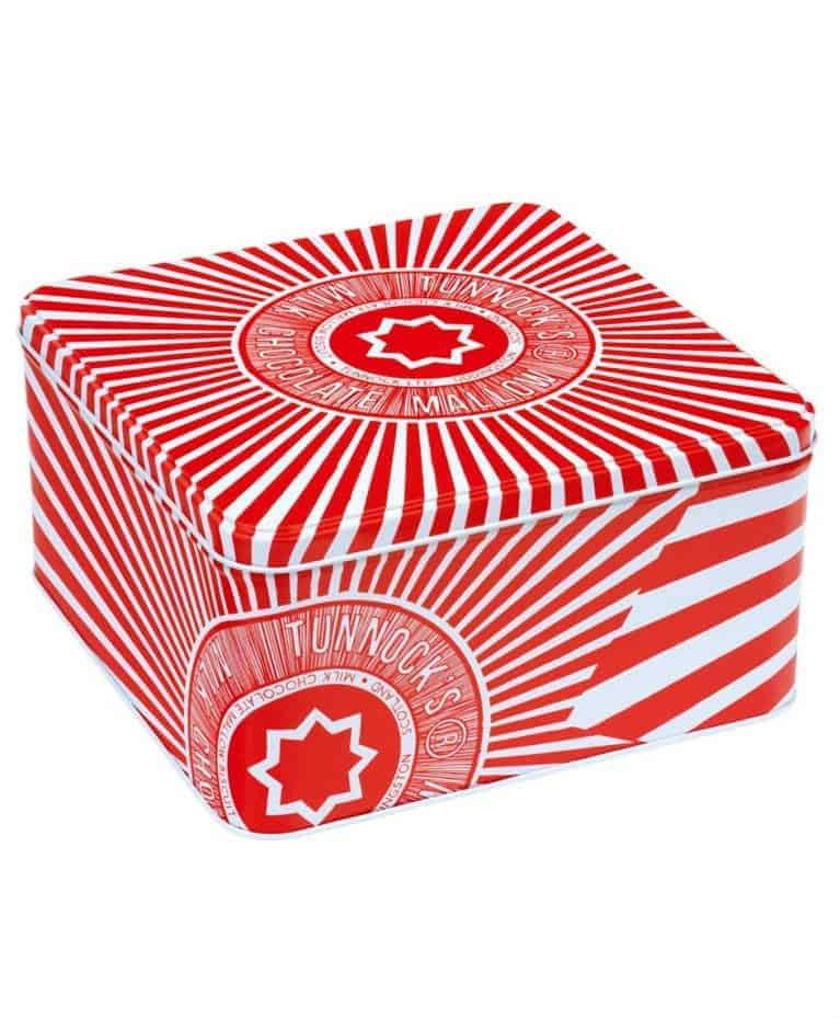 Biscuit Tin with Tunnock's Tea Cake design by Gillian Kyle