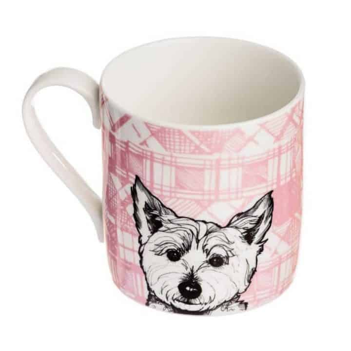 Fine Bone China Mug with West Highland Terrier Design By Gillian Kyle