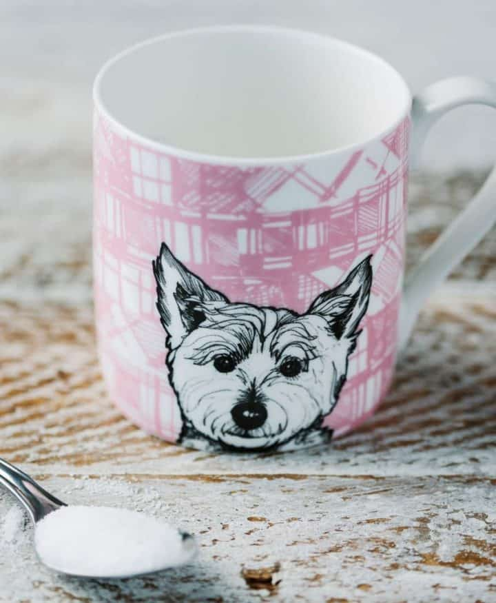 Fine Bone China Mug with Westie Terrier Design By Gillian Kyle