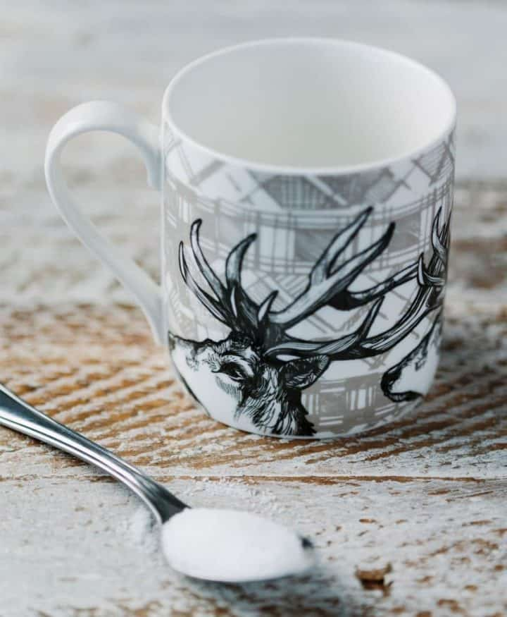 Fine Bone China Mug with Highland Stag Design
