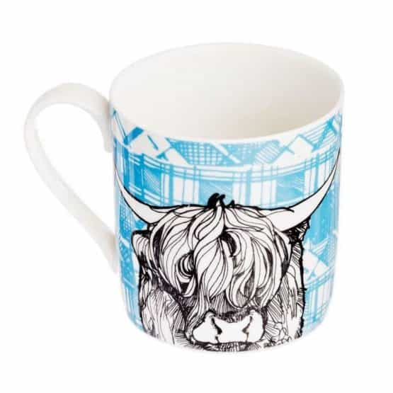 Fine Bone China Mug with Highland Cow Design