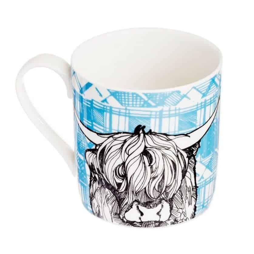 Fine Bone China Mug with Highland Cow Design