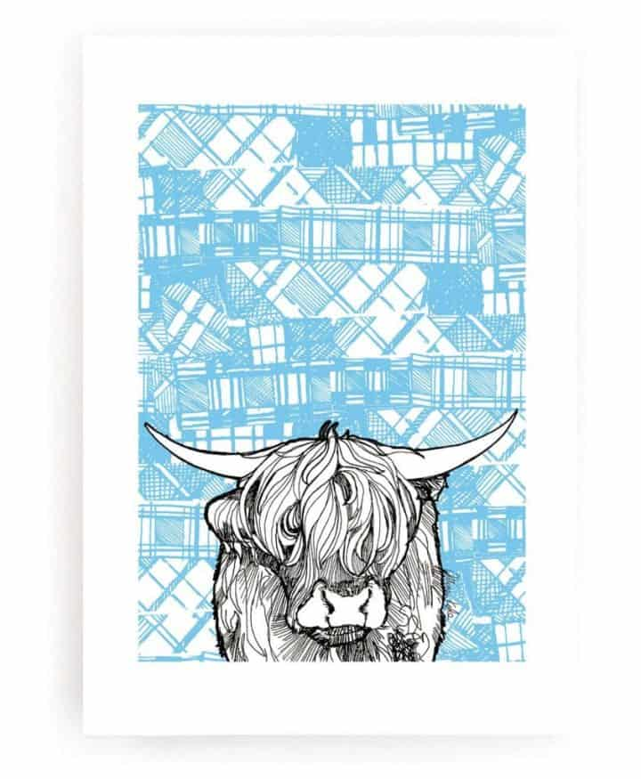 Wall Art Print with highland Cow by Gillian Kyle