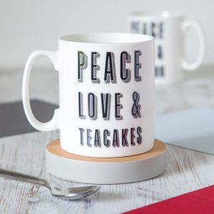 Pease Love and Teackes Mug
