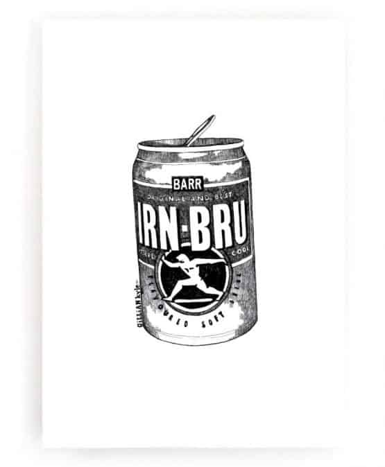 Irn Bru Wall Art Print by Gillian Kyle