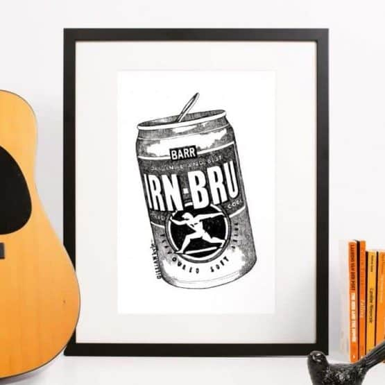 Framed Irn Bru Wall Art Print by Gillian Kyle