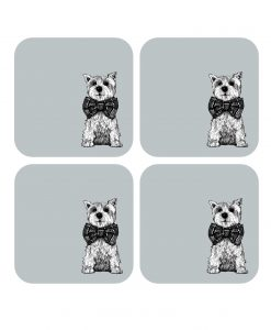 Drinks Coasters with Archie the Westie dog