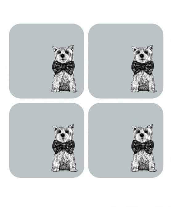 Gillian Kyle, Archie West Highland Terrier Scottish coasters, Set of 4, Scottie Dog