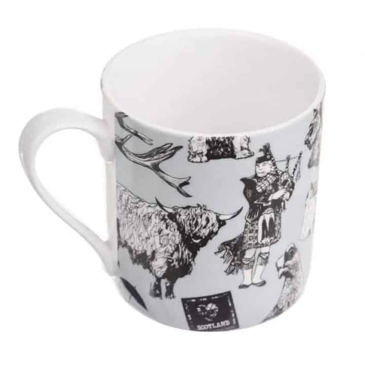 Love Scotland Fine Bone China Mug from Gillian Kyle
