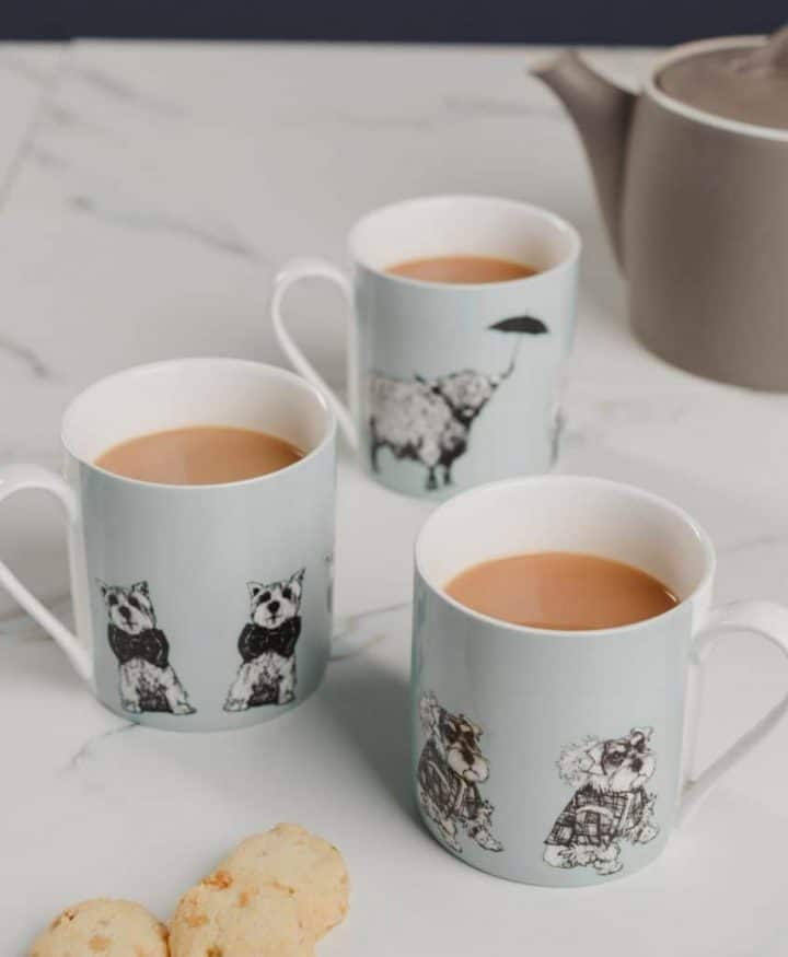Fine Bone China Mugs from Love Scotland Range by Gillian Kyle
