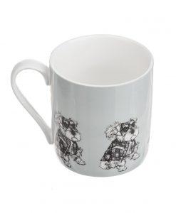 Fine China Mug with 'Hamish' Schnauzer Dog