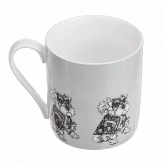 Fine China Mug with 'Hamish' Schnauzer Dog