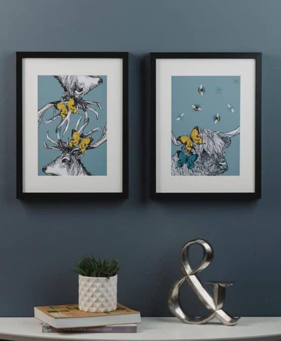 Butterflies and Beasties Art Prints