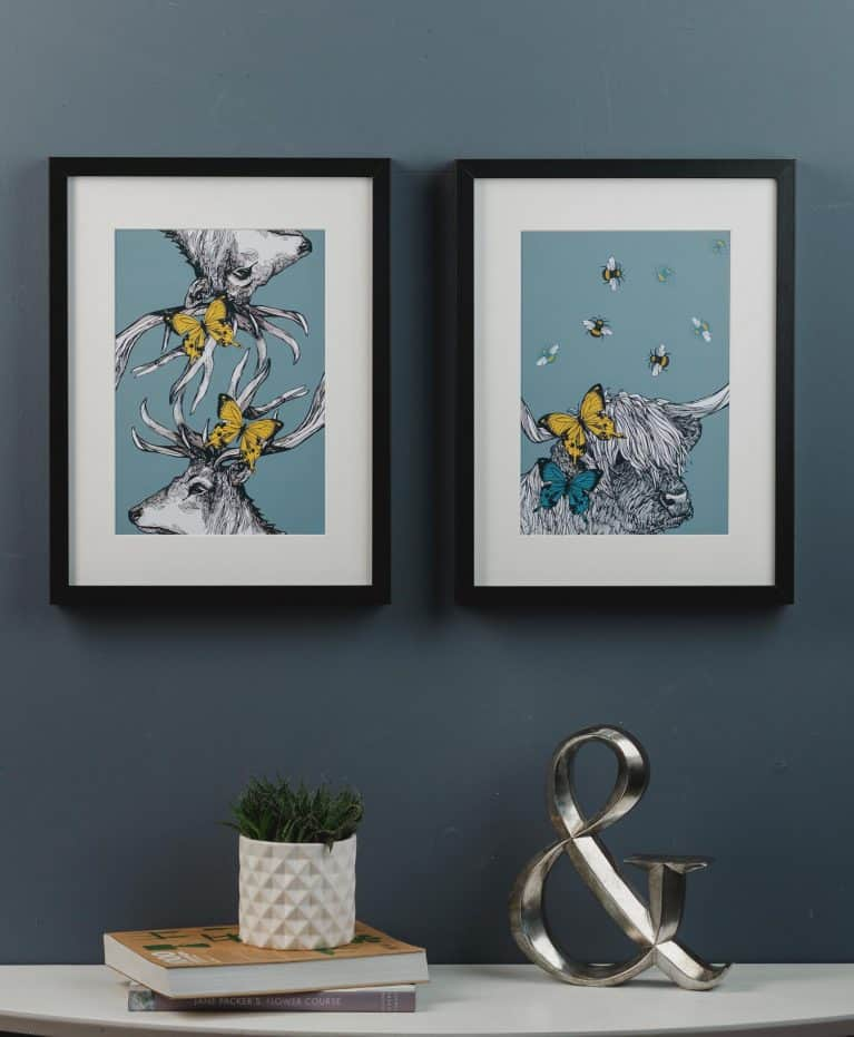 Butterflies and Beasties Art Prints