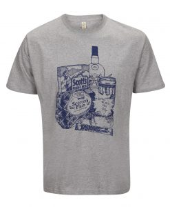 Men's T-shirt with Scottish Breakfast Illustration by Gillian Kyle