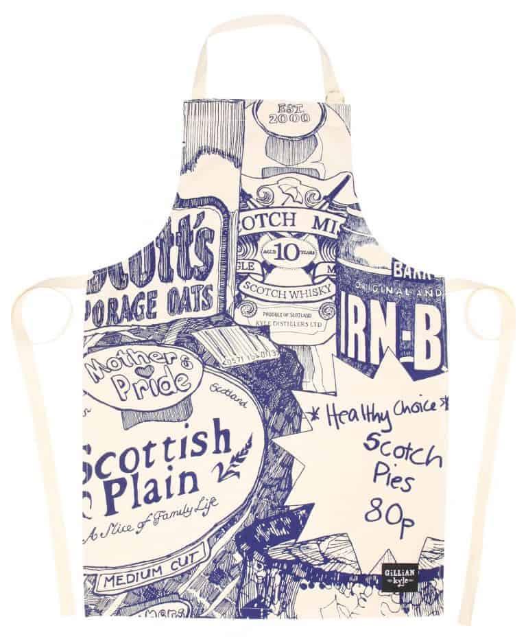 Tea Towel with Scottish Breakfast illustration by Gillian Kyle