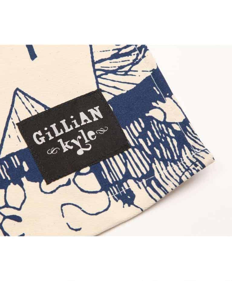 Gillian Kyle Branding Label on Tea Towel